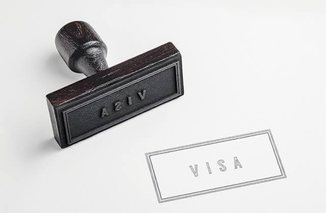 Estampado de visa temporaria